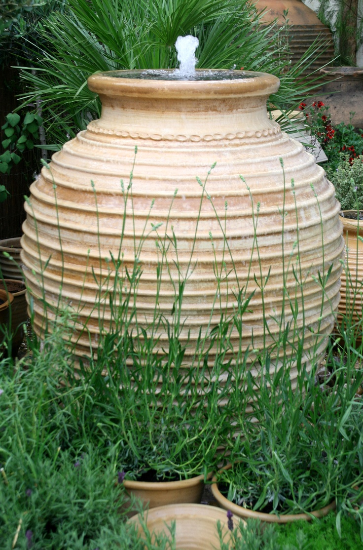 Convert A Large LAMP Base Into An Outdoor Fountain! Http://landscaping.