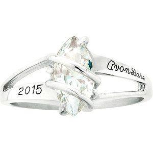Keystone Girls' Glamour Fashion Class Ring