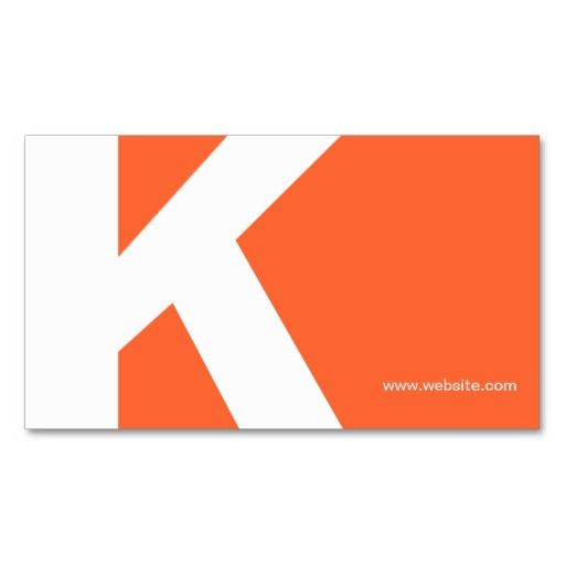 29 best business cards for personal trainers images on pinterest bold initial monogram orange business card reheart Image collections