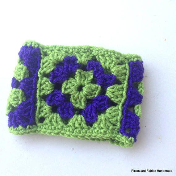 Crochet bracelet granny's square bracelet crochet