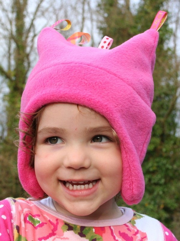 Cerise Fleece Toggle Hat
