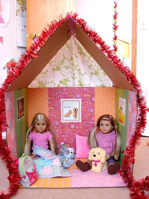 Doll Craft - Make a Clubhouse for Your Dolls! find this project at : americangirl.blogspot.com . type in the loking for somthing box : make a clubhouse for your dolls