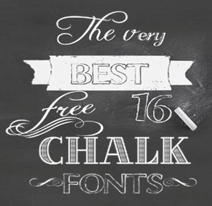 Fonts - 16 free chalk board fonts to use for your Pinterest posts, photos, blog articles, presentations and printables to enhance your visual content marketing #fonts #freefonts