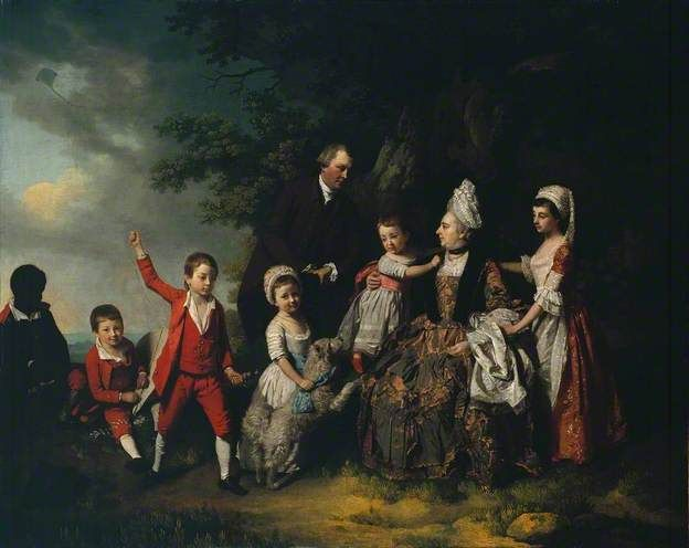 A Family Group in a Landscape by Francis Wheatley, c.1775   Tate