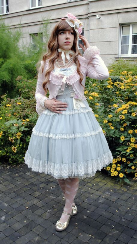 I wish I was a girl so I could wear frilly outfits all of the time!