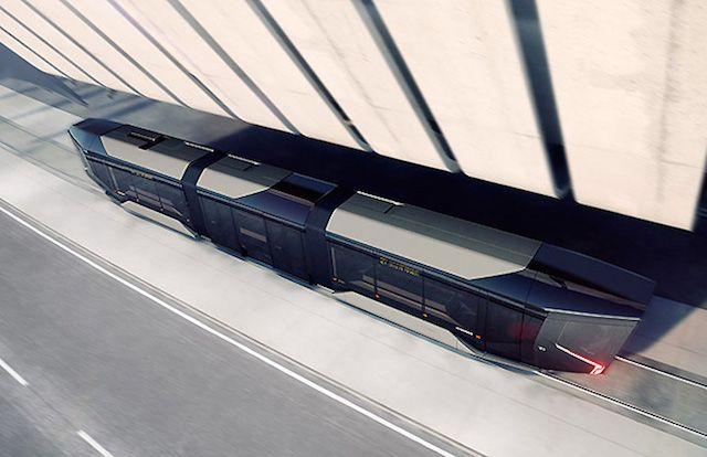 ロシアの新しい路面電車はサイバー感溢れる近未来デザイン
