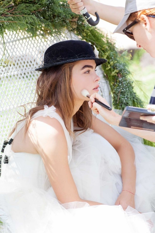 Love the hat.   Vogue Brides editorial with Bambi Northwood-Blyth and Dan Single.  Image: Nicole Cooper.