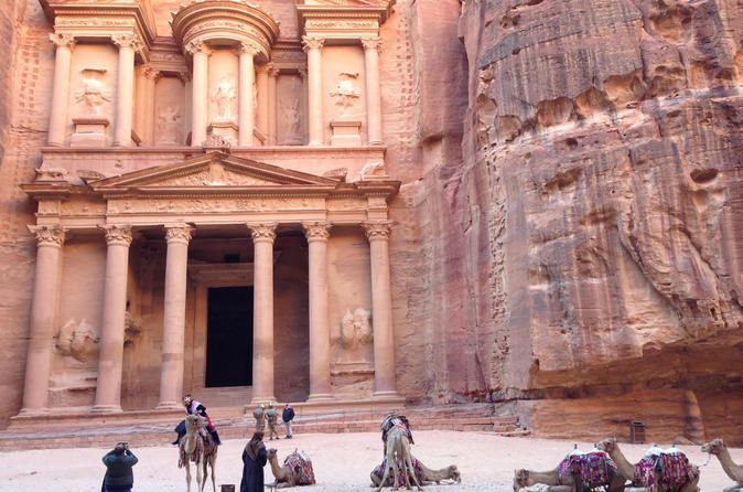 Day Tour to Petra from Eilat A magical day tour in Petra.Choose any date and enjoy a beautiful tour to Petra with pro guides. Pickup/drop off from any hotel in Eilat.Departures every day.At 7am your tour to Petra from Eilat will start with a pick up from your accommodation and transfer from Eilat to Arava Border. The journey will take one hour to the border.Border passing includes: border control and customs.This process may take up to an hour, so your patience is apprecia...