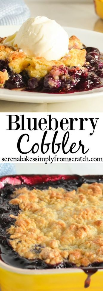 Warm Blueberry Cobbler is easy to make from scratch and perfect for summertime picnics, barbecues, and potlucks.