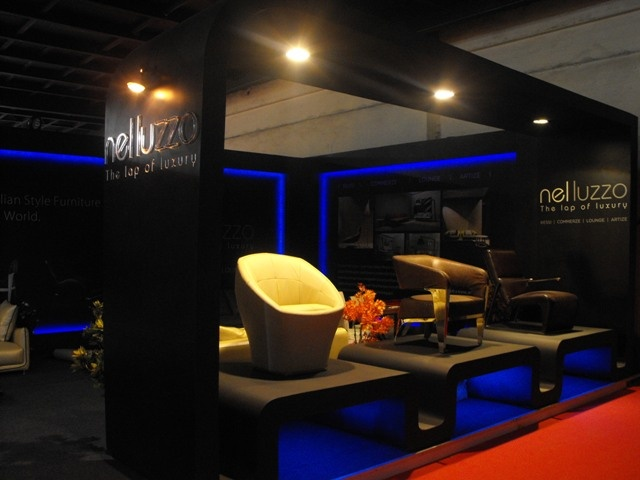 High end italian #furniture brand Nelluzzo's products highlighted in their full glory in #LED lighting