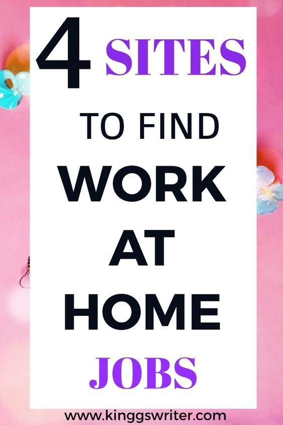 4 großartige Websites für die Arbeit zu Hause   – Work from home jobs