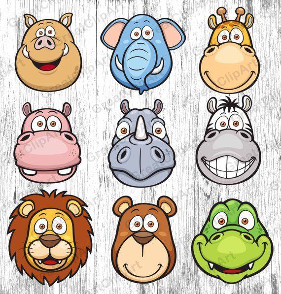 9 Babies Kids Animals Clipart Animals Clipart Kids Clipart Etsy Wild Animals Vector Animals For Kids Animals Wild