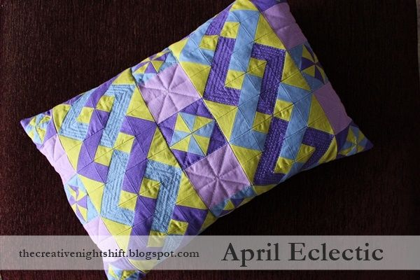 the creative night shift: Quilt Tutorial: April Eclectic