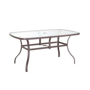 navona 38 in x 60 in rectangular glass top patio dining table