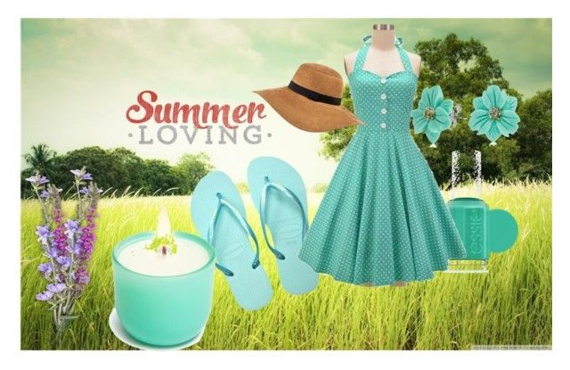 """""""Summer picnic"""" by hopefortomorrow ❤ liked on Polyvore featuring Havaianas, Essie, River Island and Bling Jewelry"""