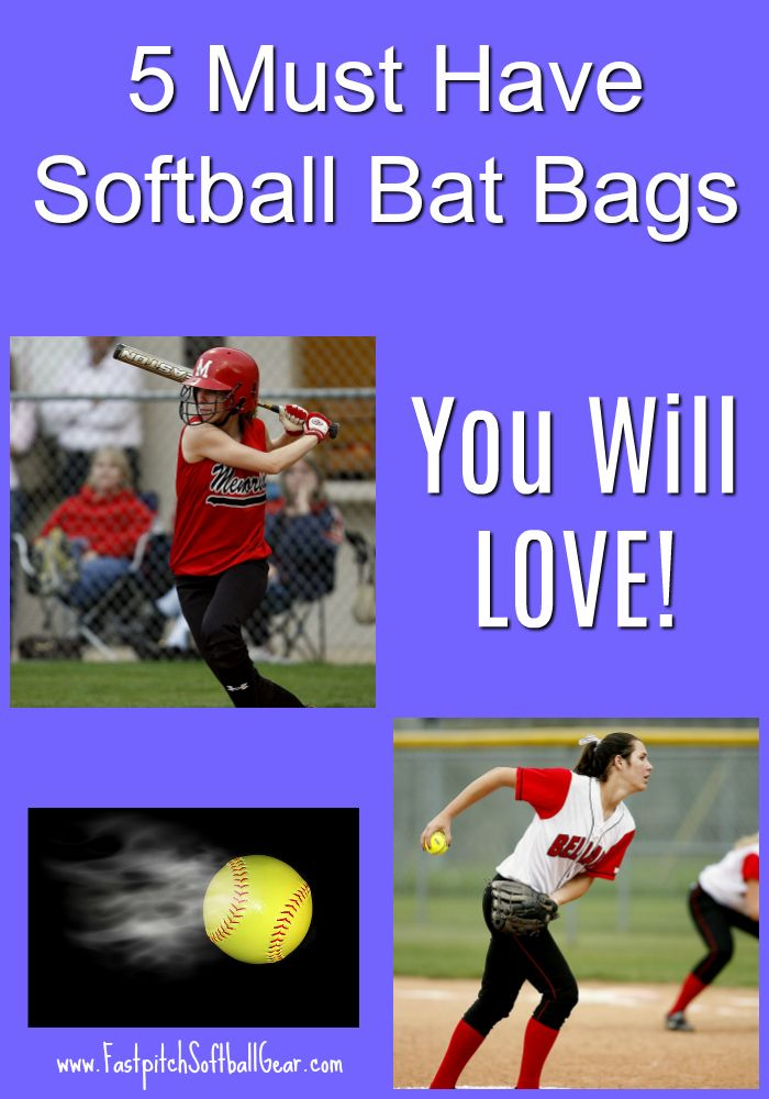 """5 Must Have Softball Bat Bags You Will LOVE.  You just have to have a quality bag to last you the whole season.  Learn more about the top five by clicking on the big image above or clicking on the """"visit"""" button."""