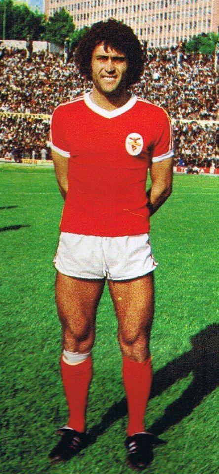 Vítor Baptista, em 1977, ao serviço do Benfica.