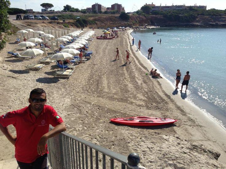 Antonio uno dei nostri bagnini di fiducia :p   Lifeguard from the beach.