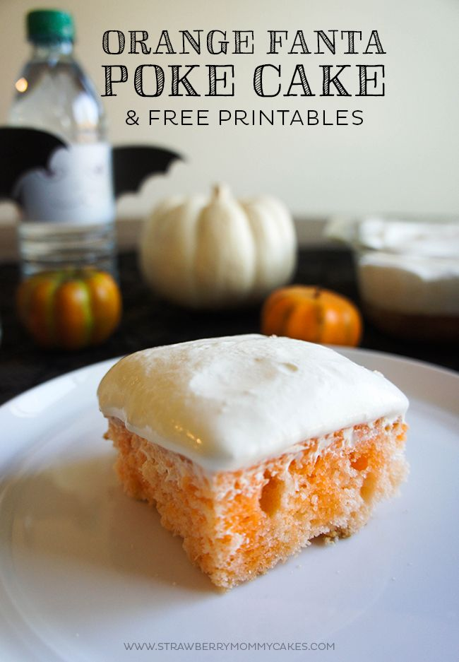 This Orange Fanta Poke Cake is the perfect Halloween treat! It is moist, delicious, and so easy to make!