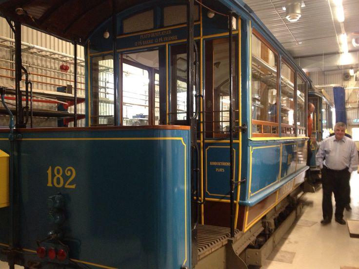 100 year old Stockholm tram.