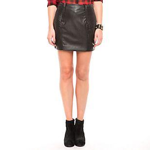 Basement Mini Falda Pliegues Negra