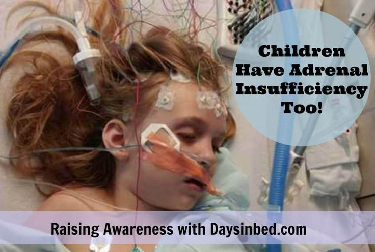 Children have adrenal insufficiency