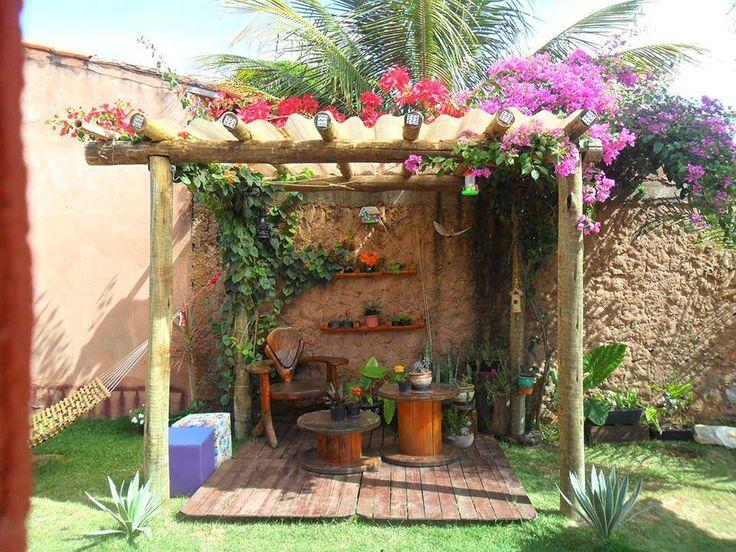 Um cantinho especial para seu jardim! #jardim #cantinho