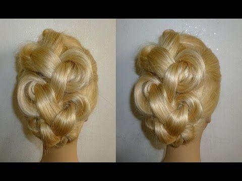 Easy Frisuren:Zopffrisur/Flechtfrisur.Hochsteckfrisur.Braided High Bun Hairstyles.Peinados - YouTube