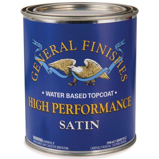 General Finishes Hp Polyurethane Top Coat Satin Quart Gel