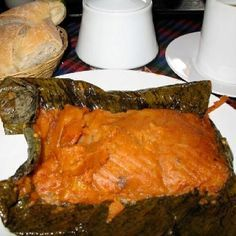 Pache (type of tamale made from potatoes ) Guatemalan  food