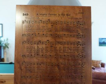 A Mighty Fortress Is Our God hymn carving on Maple wood - Edit Listing - Etsy