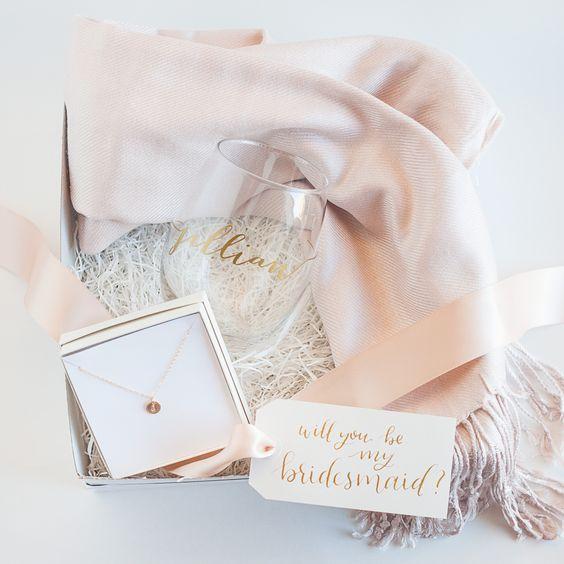 Bridesmaid or Maid of Honor Gift