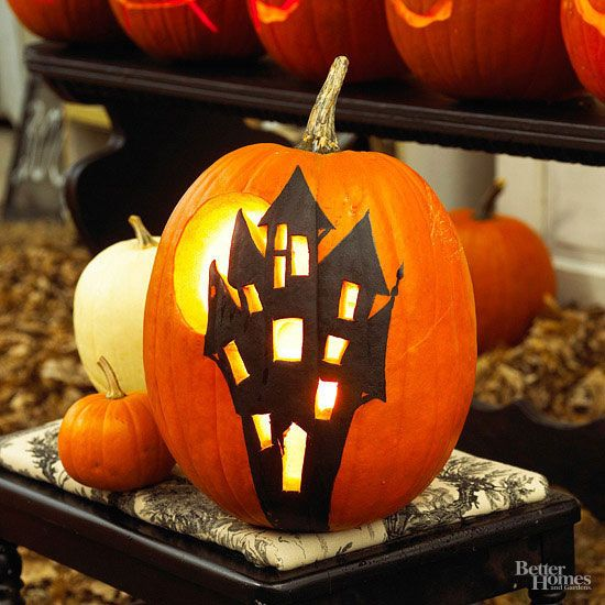 Witches, werewolves, black cats, and more—there are simple pumpkin stencils for any age and ability.