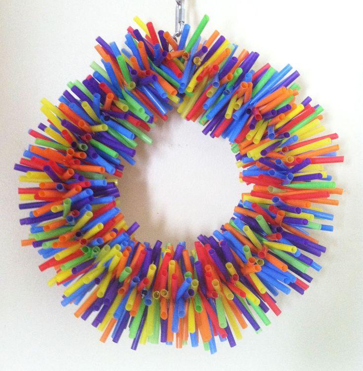 Lg. Silly Sid Straw Wreath ~ Large Bird Toy~ Parrot Toy Macaw Toy Cockatoo Toy #ForBirdSakeToys