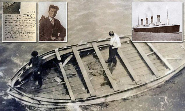 The  wooden lifeboat, the last to be cast off from the doomed passenger ship…