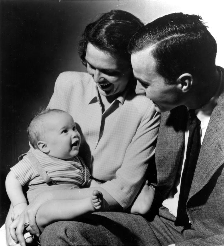 George and Barbara Bush with their first born child George W. Bush,