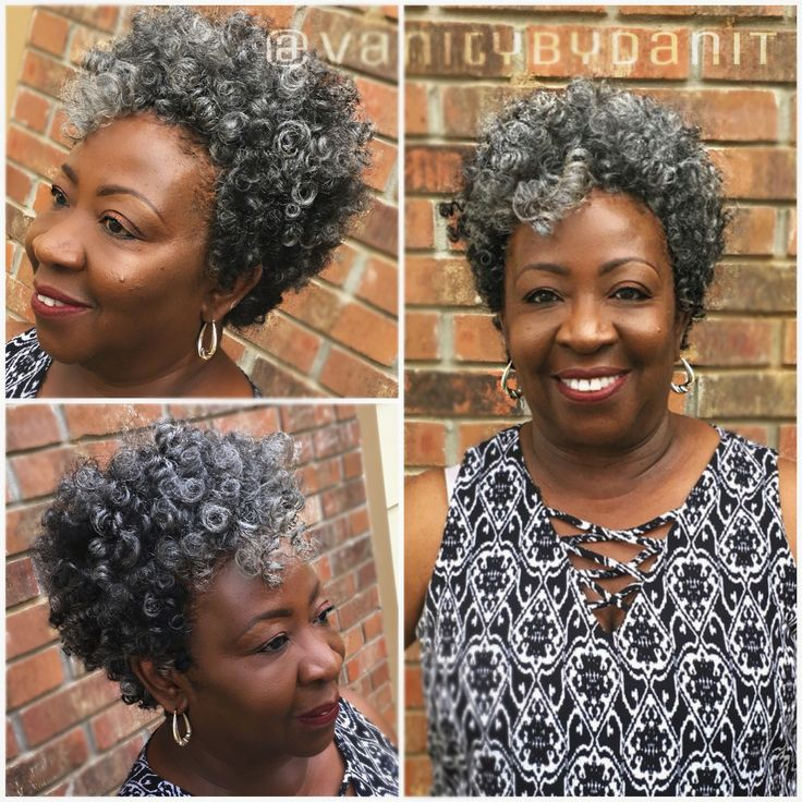 Tapered cut crochet braids using salt n pepper small and medium curls from latchedandhooked.com styling by @vanitybydanit IG and fb
