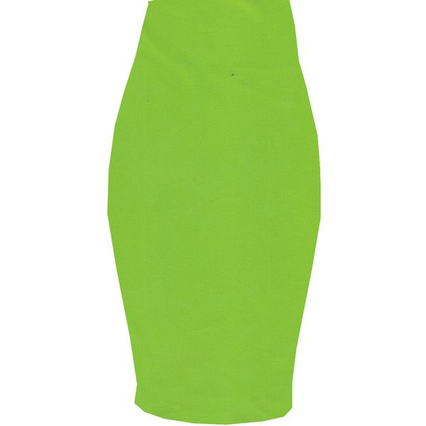 bright shocking green spandex pencil skirt 65 liked on
