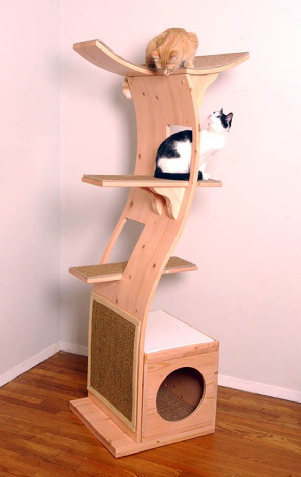 24 best ideas about cat treehouse on pinterest cat for Bookshelf cat tower