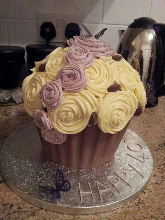40th Birthday giant cupcake