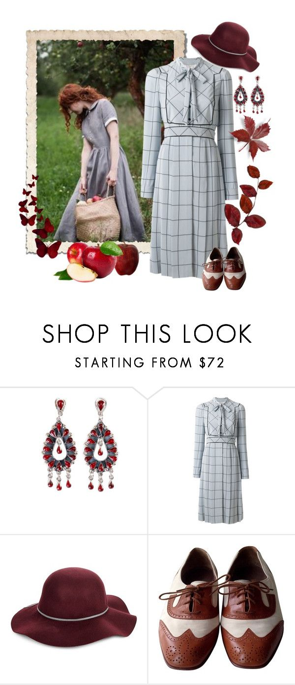 """""""Apple Picking - Vintage"""" by giovanina-001 ❤ liked on Polyvore featuring Wallace, Valentino, San Diego Hat Co., Bally, vintage and applepicking"""