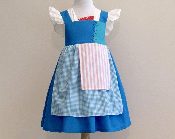 Belle 2017 Provincial Inspired Dress. Everyday Princess Dress for Girl Sizes 1-8