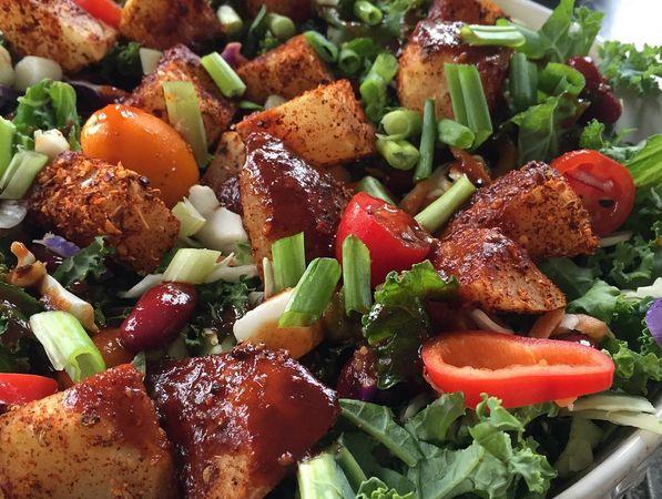 The Engine 2 Diet | BBQ Baked Potato Salad Bowl