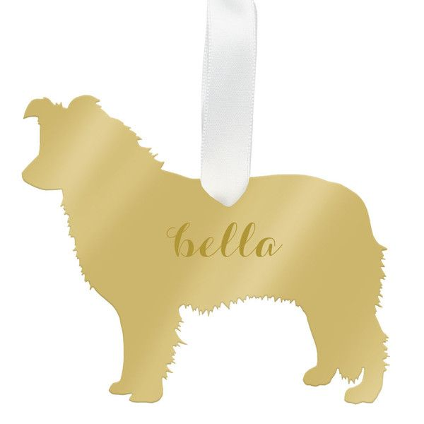 Moon and Lola - Personalized Australian Shepherd Ornament - Oprah's Favorite Things 2015