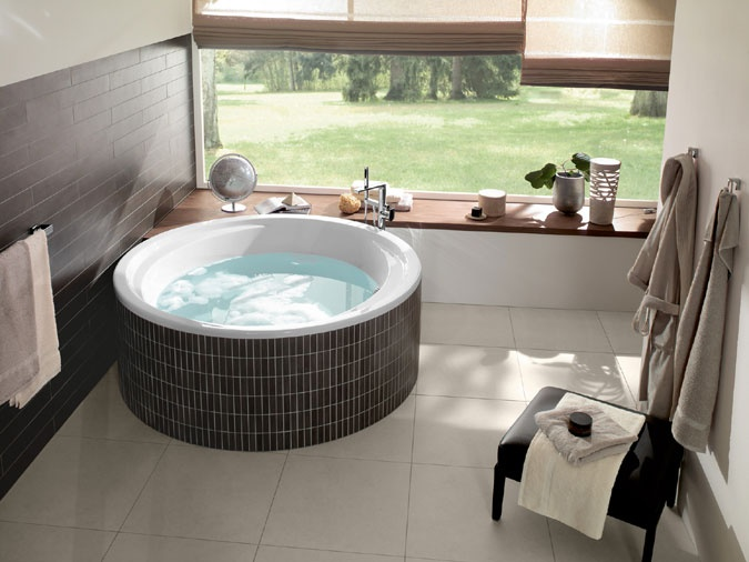 Čisté linie a jemné tvary jsou v koupelnách a wellness velmi vyhledávané http://www.palazzio.cz