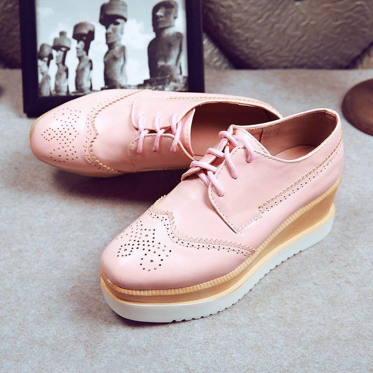 Cheap 2016 charol oxford zapatos para mujeres pisos lace up mujeres brogues zapatos del verano del resorte plataforma niñas zapatos planos de plata, Compro Calidad Pisos de la Mujer directamente de los surtidores de China: