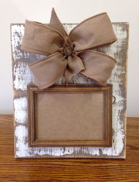 Distressed/Rustic+Cream+Picture+Frame+by+PaintedPriss+on+Etsy