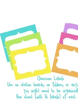 Need labels for items in your classroom to help you stay/get organized