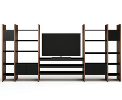 bdiu0027s semblance 5425tl home theater modular system with shelving hometheater furniture - Bdi Furniture