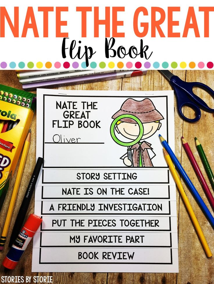 Your students will flip over these reading response booklets that can be used with any of the books in the Nate the Great series.